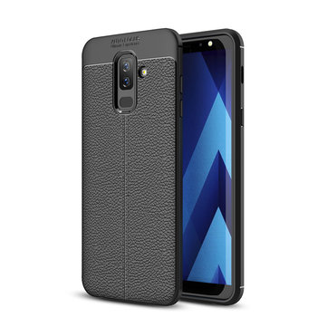Bakeey Litchi Leather Soft TPU Protective Case for Samsung Galaxy A6 Plus 2018