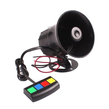 Waterproof 4 Sounds Car Motorcycle Loudspeaker Horn Alarm Tweeter