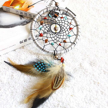 Silver Dream Catcher Feathers Core Bead Dream catcher for Wall Car Decorations Dream catcher Decor Silver Dream Catcher Feathers Core Bead Dream catcher for Wall Car Decoration