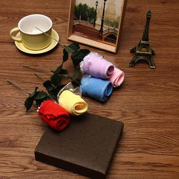 20x20 centimetri mircrofibre rosa fiori acqua di assorbimento del festival asciugamano nozze regali di San Valentino di compleanno