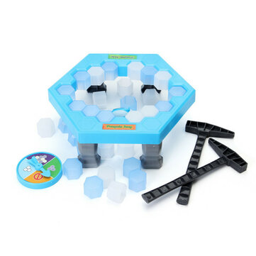 FUNTOK Save Penguin Ice Kids Puzzle Game Break Ice Block Hammer Trap Party Toy Pretend Icebreaker