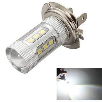 H7 3030 16SMD LED Car White Fog Light Daytime Running Light Bulb DC 10-30V