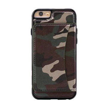 TPU Shockproof Dropproof Kickstand Back Case Cover Met Card Slot Voor iPhone 6/6s Plus 5.5 Inch