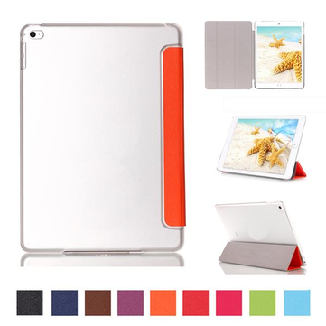 Fashion PU Leather Clear Transparent Smart Back Case For iPad Mini 4