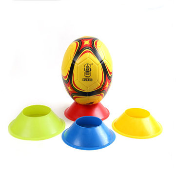 4cm*20cm Football Training Accessories Marker Discs PE Material Flexible Soccer Obstacle Cone Mark