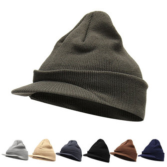 Women Ladies Knitting Wool Hats Mens Knitted Peaked Cap Beanies Ski Cap