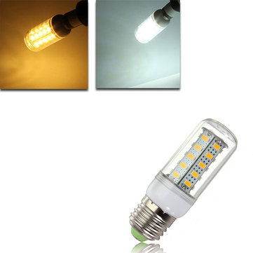E27 LED 4.5W 36 SMD 5730 Warm White/White Cover Corn Light Lamp LED Bulb AC 220V
