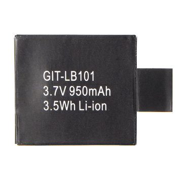 Original 3.7V 950mAh 3.5W Battery for GIT1 GIT2 Gitup Camera