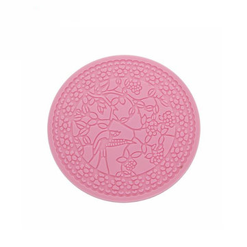 Magpies Branches Round Silicone Lace Fondant Mold Cake Mould