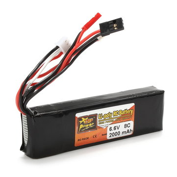ZOP Power 6.6V 2000mAh 8C 2S LI-FE Battery