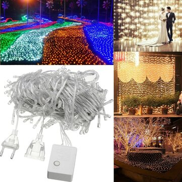 20M 200LED Waterproof Fairy String Light Christmas Outdoor Wedding Party Lamp EU Plug AC220V