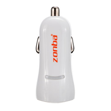 Zhongba CH011A Dual USB Car Charger 5V 2.4A 1A for iPhone Xiaomi Digital USB Port Electric Dvice
