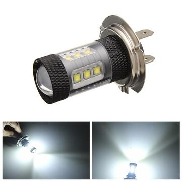 H7 2525 16 LED Car White DRL Headlight Fog Light Bulb Lamp 780LM