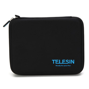 TELESIN Middle Size Protective Storage Case Bag For Gopro Xiaomi Yi Action Sports Camera