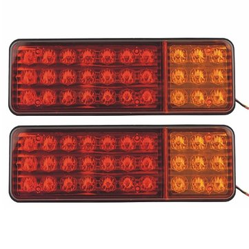 2pcs Vehicle Car Truck Minivans 30 LED Brake Stop Tail Rear Warning Light Lamp Red Yellow