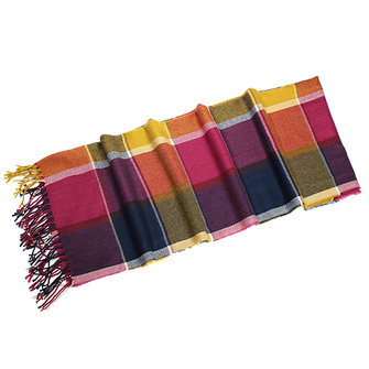 Elegant Plaid Checks Wool Tassels Warm Long Soft Scarf Shawl Wrap