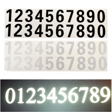 Number Reflective Sticker Car Vinyl Decal Street Address Mail Box Number Stickers White Black