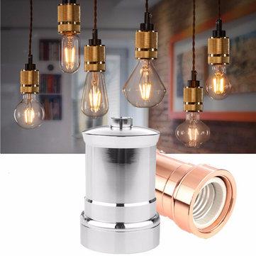 E27 E26 алюминия ретро старинные промышленного Эдисон винт держателя лампы свет гнездо