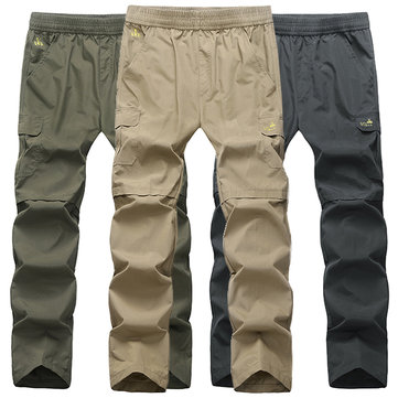 Plus Size M-5XL Outdoors Quick Drying Multi Pocket Pants