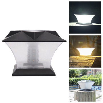 Solar Power 18 LED Waterproof Pillar Light Garden Lawn Landscape Decoration Lamp
