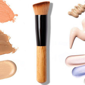 Wooden Handle Multi-Function Blush Makeup Powder Foundation Brush