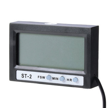 Household LCD Display Digital Thermometer Clock Auto Temperature