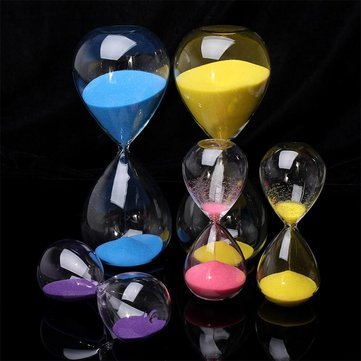 5/30 Minute Colorful Glass Sand Timer Sand Glass Hourglass Home Decor Gifts