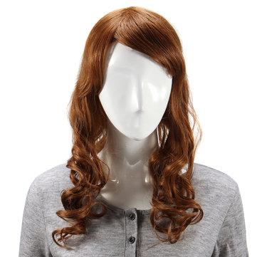 Longo encaracolado cabelo humano peruca capless virgem remy mono top 6 cores para escolher