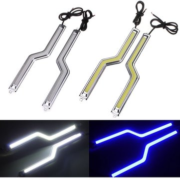 LED COB Car Driving Daytime Running Lamp Fog Light White Z Shape