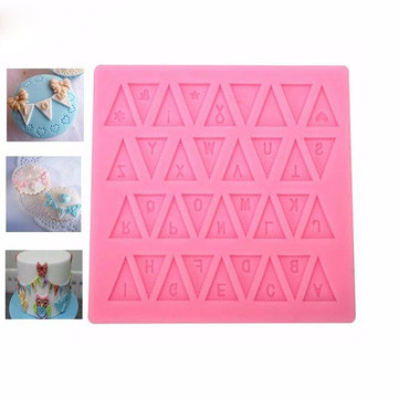 Flag Silicone Fondant Mold English Letter Gum Paste Sugarpaste Cake Decorating Mold FDA LFGB