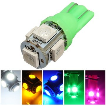T10 194 168 2825 5SMD 5050 LED Green Super Bright Car Wedge Lamp Bulb