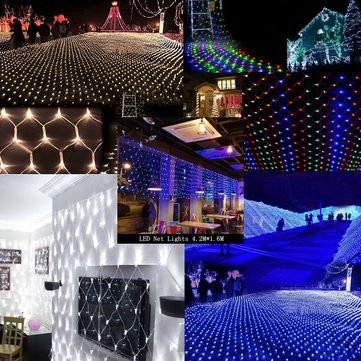 LED Net Light 4.2M x 1.6M 300leds AC220V Christmas Fairy String Light