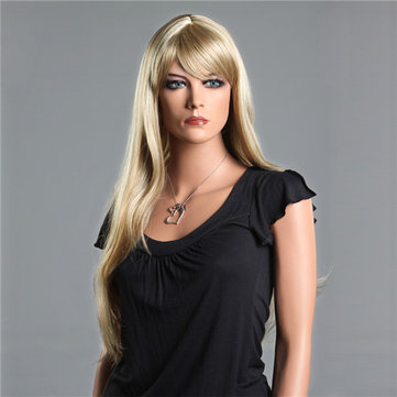 NAWOMI Natural Soft 100% Kanekalon Synthetic Hair Wig Long Straight Side Bang Capless Elegant