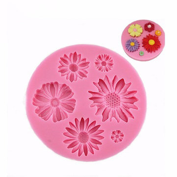 Daisy Silicone Fondant Cake Mold Chocolate Polymer Clay Mould