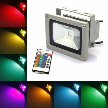 10W RGB 900LM RGB Color Changing Outdooors LED Flood Light AC85-265V