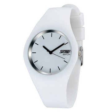 SKMEI 9068 Fashion Silicone Band Analog Women Men Quartz Wrist Watch