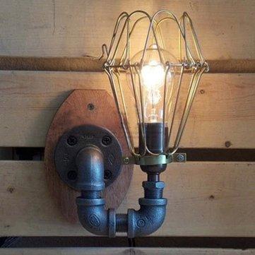 Lâmpada de parede americano do vintage retro país para o quarto bar café