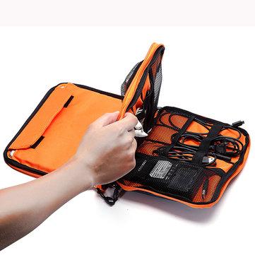 Borsa Informale Multifunzionale di Tela Multi-Tasca Portaoggetti Sacchetto del Telefono iPad