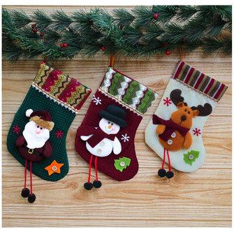 Natal, presente, decoração, sock, xmas, santa, claus, boneco neve, cervos, feriado, partido, saco