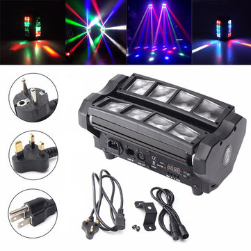 24W RGBW 4 IN 1 DMX512 LED Spider Beam Moving Head Stage Lighting DJ Party Disco