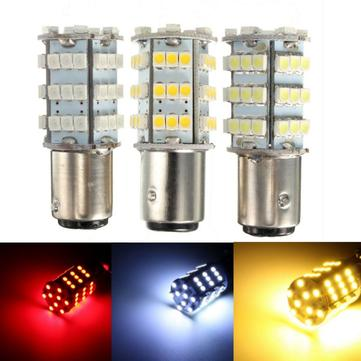 1157 3528 54 SMD LED Front Turn Signal Light Bulbs Brake/Stop/Tail/Reverse Lamp