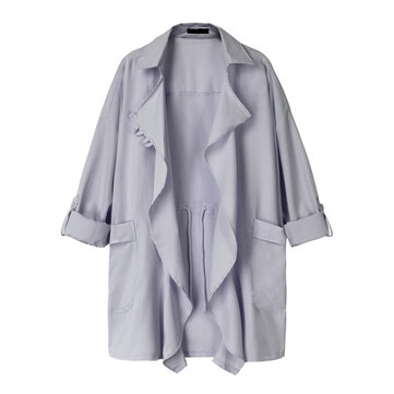 Plus Size Casual Women Lapel Collar Long Sleeve Cardigans