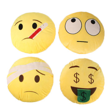 Creative Emoji Expression Throw Pillow Plush Sofa Bed Car Cushion Birthday Gift Trick Toys