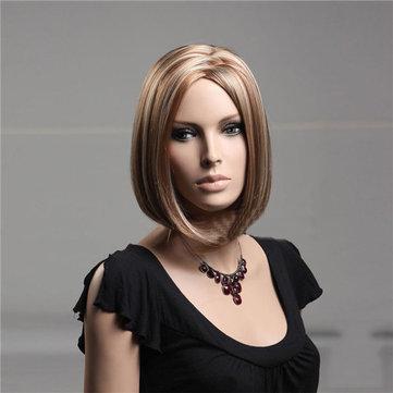 Nawomi 100% kanekalon ultra- capless peruca de cabelo sintético em linha reta estrondo meio elegante encantador suave