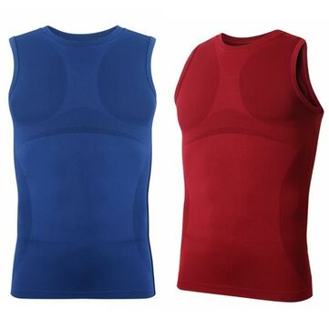 Men's Belly Shirt Corset Round Neck Body Shaper Vest Belt