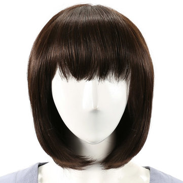 Virgin Remy Mono Top Full Bang Straight Capless Human Hair Wig