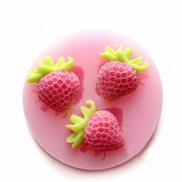 Silicon Strawberry Cake Fondant Mold Creative Baking Mold Ice Mold Multifunction Kitchen Tools