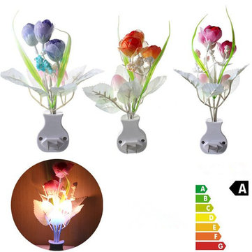Mini Tulip Mushroom Soft Romantic Sensor Home Decor Night Light Bed Room Lamp