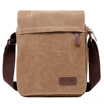 Wear-resisting Canvas Crossbody Bag Casual Outdoor Square Shoulder Bag