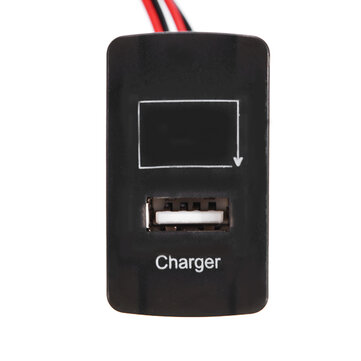 JZ5002-1 Car Battery Charger 2.1A USB Port with Voltage Display Dedication Only for Honda Auto